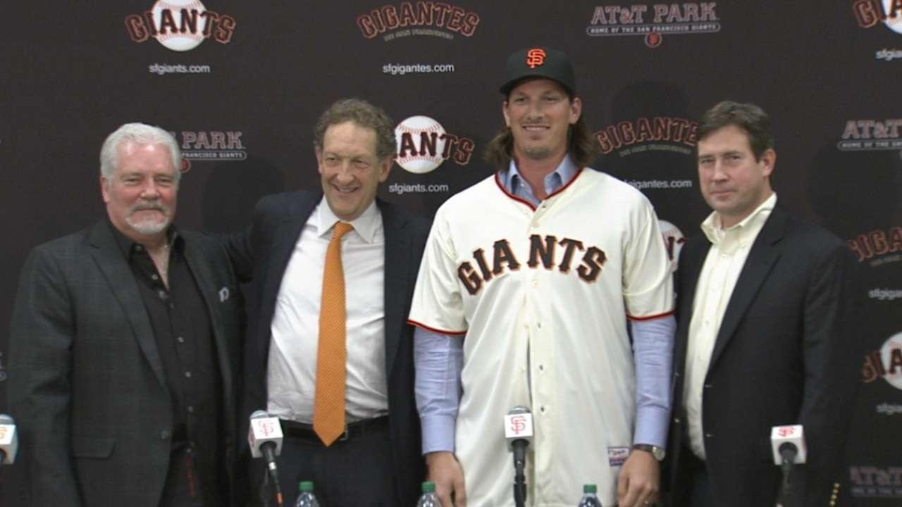 Giants introduce Samardzija