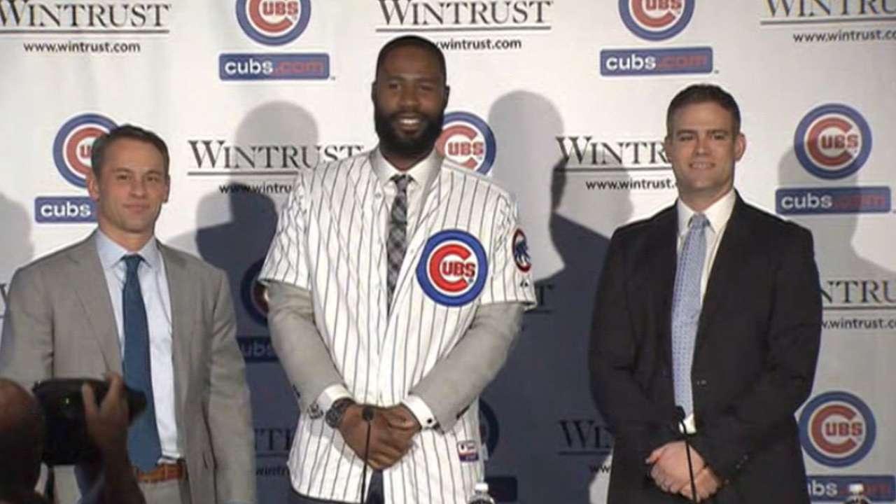 Cubs introduce Heyward