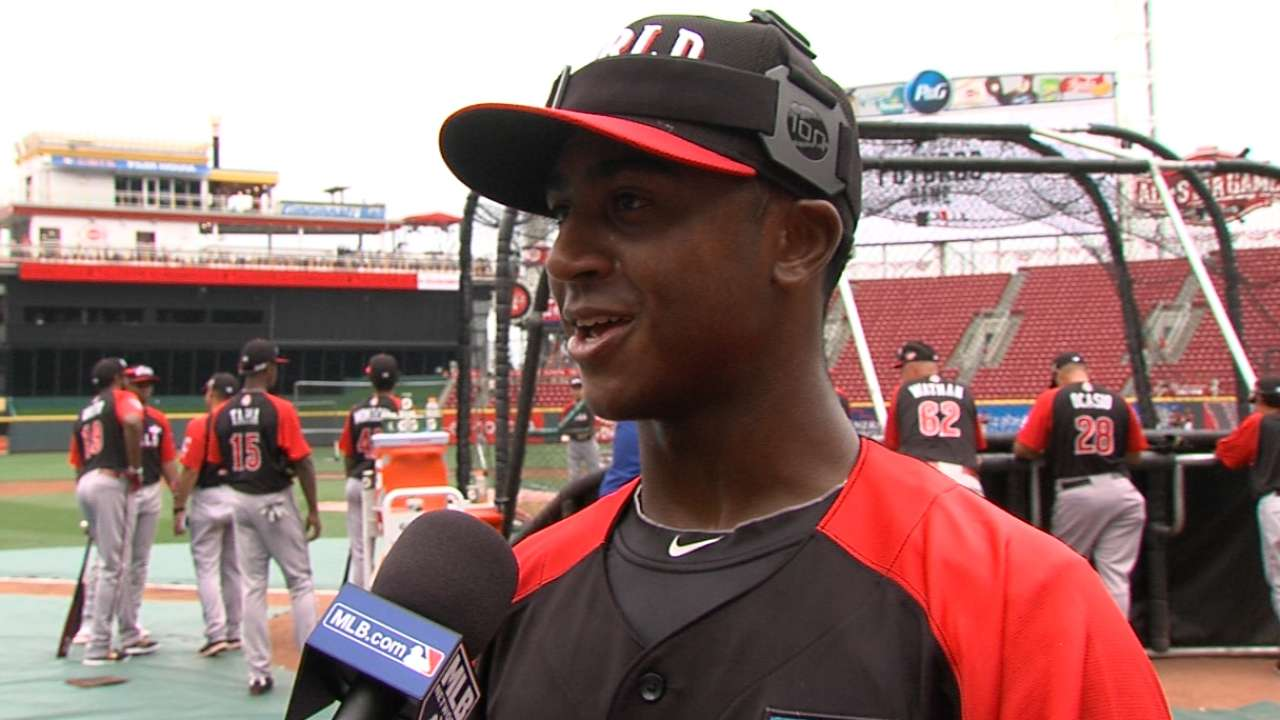 Albies on Futures Game, Simmons