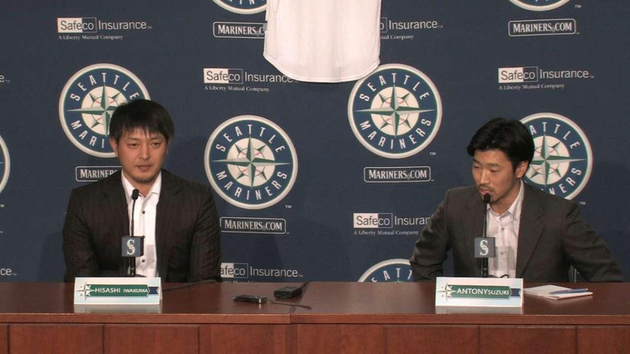 Mariners welcome back Iwakuma