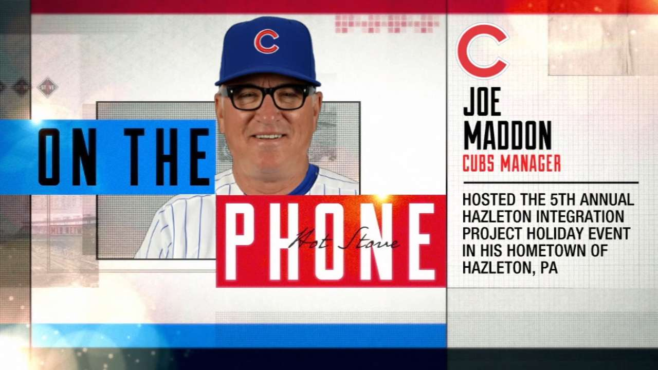 Maddon continues to give back to hometown
