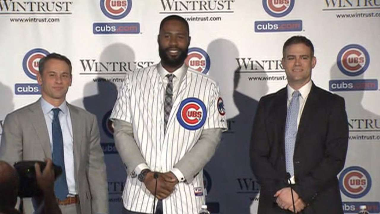 Cubs introduce Heyward