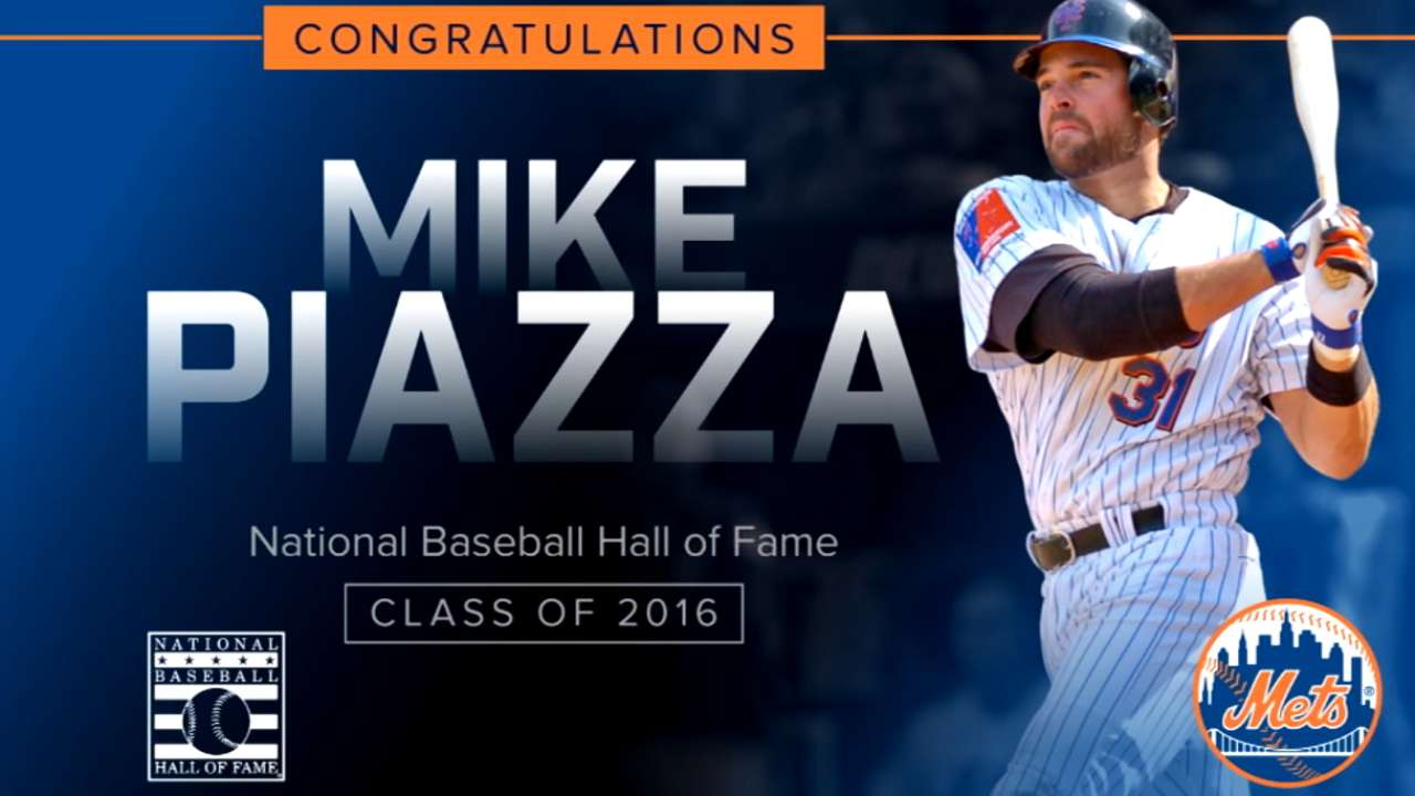 Mets congratulate Mike Piazza