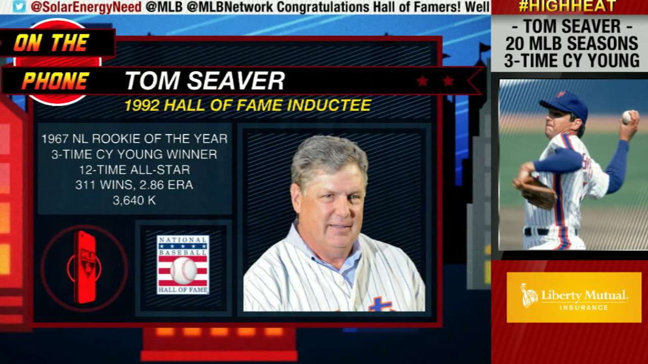 Seaver thrilled to have Griffey, Piazza in Hall