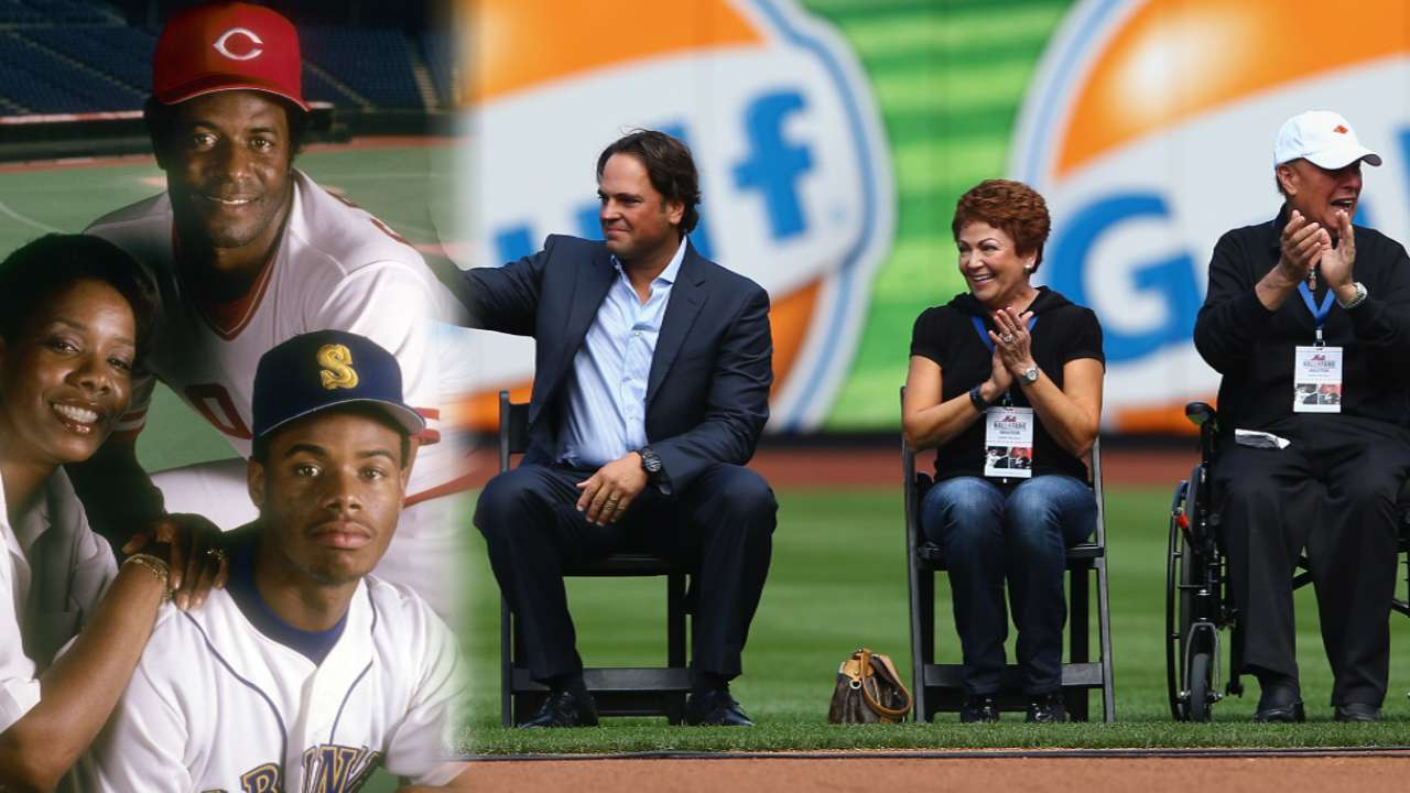 Griffey and Piazza thank parents