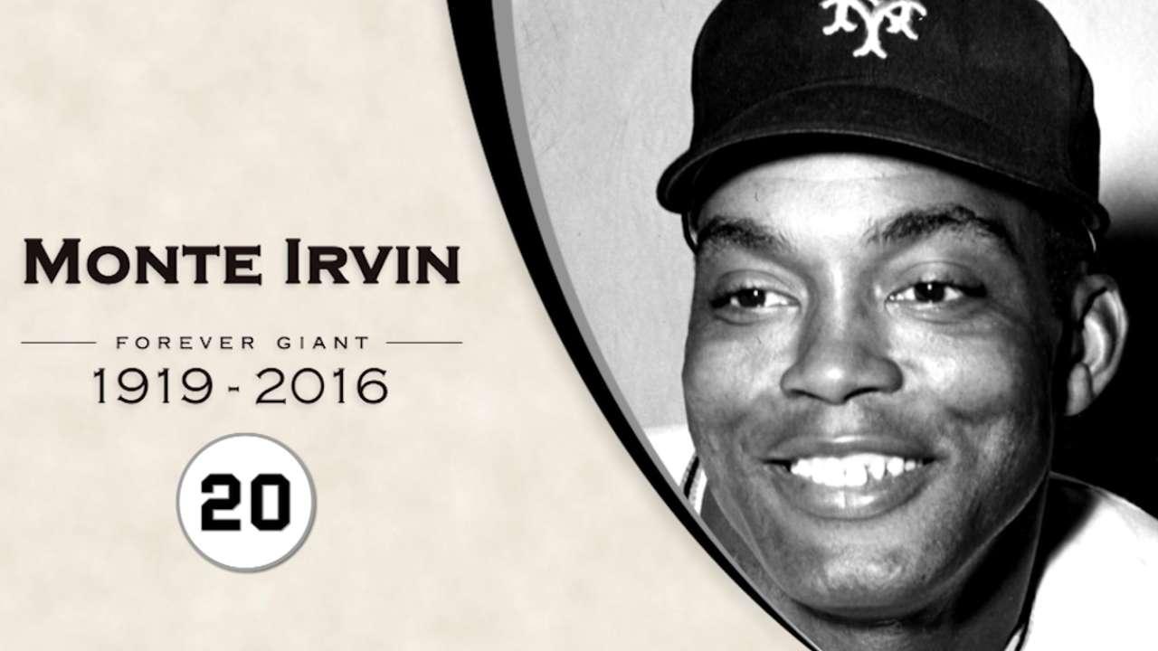 Giants remember Monte Irvin