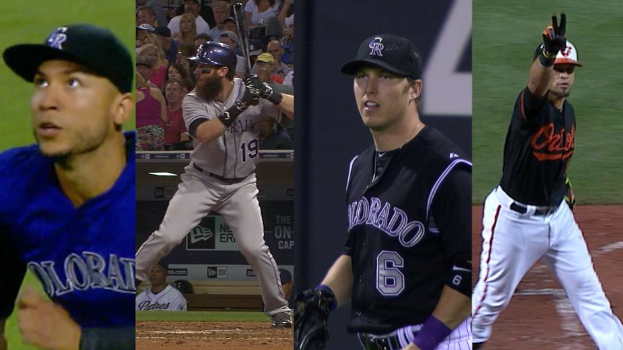 Rockies with depth at outfield