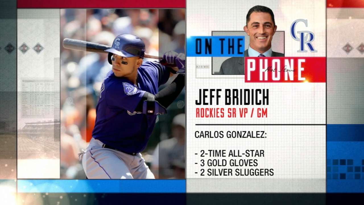 Bridich on Rockies' outfield