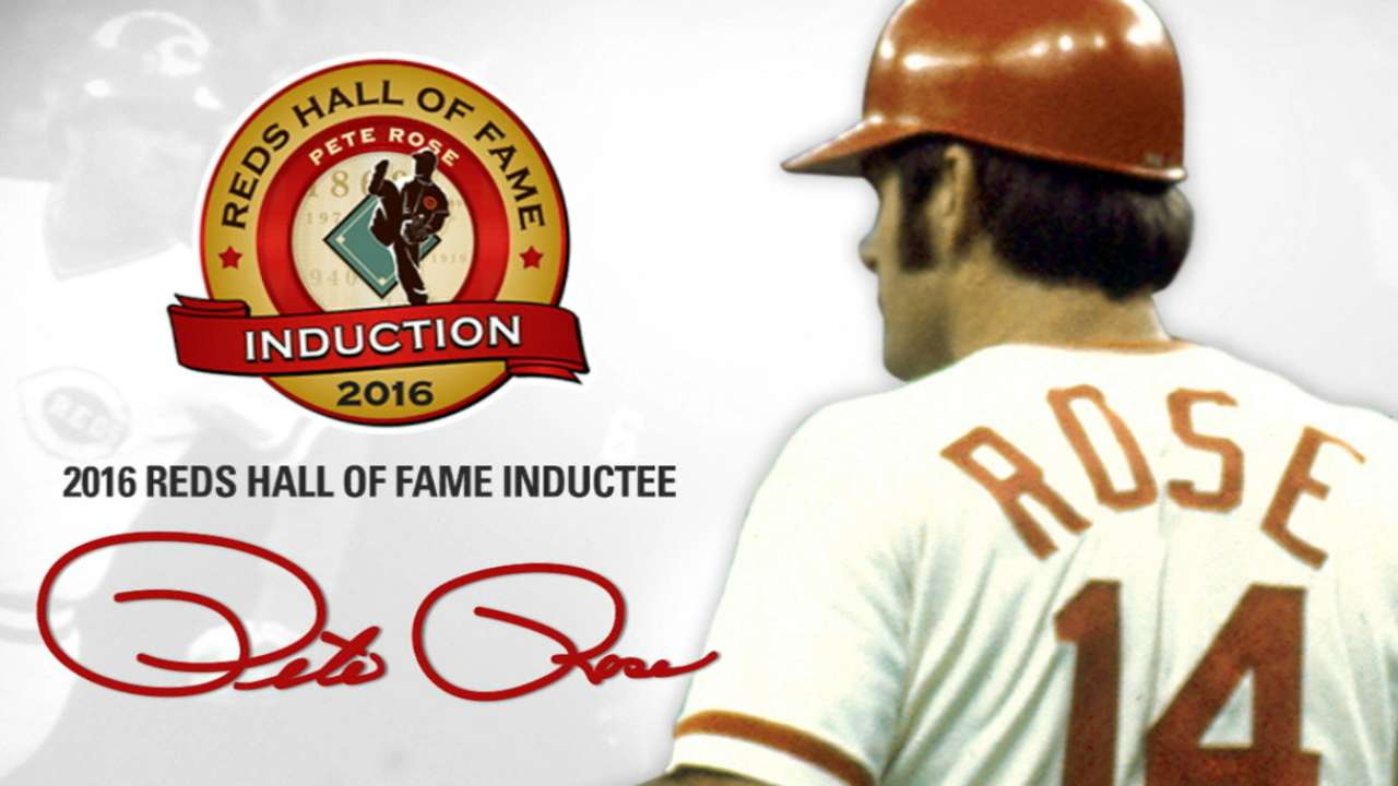 Rose elated over election to Reds Hall of Fame