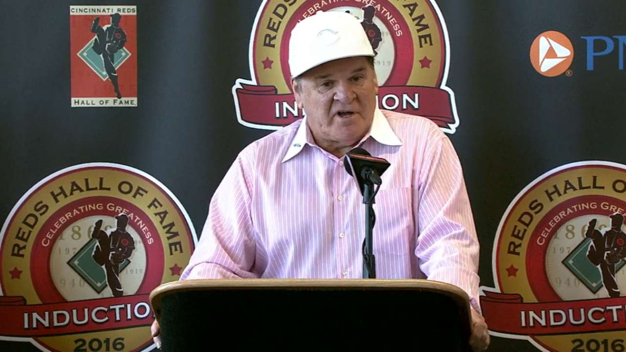 Pete Rose elected to Reds HOF