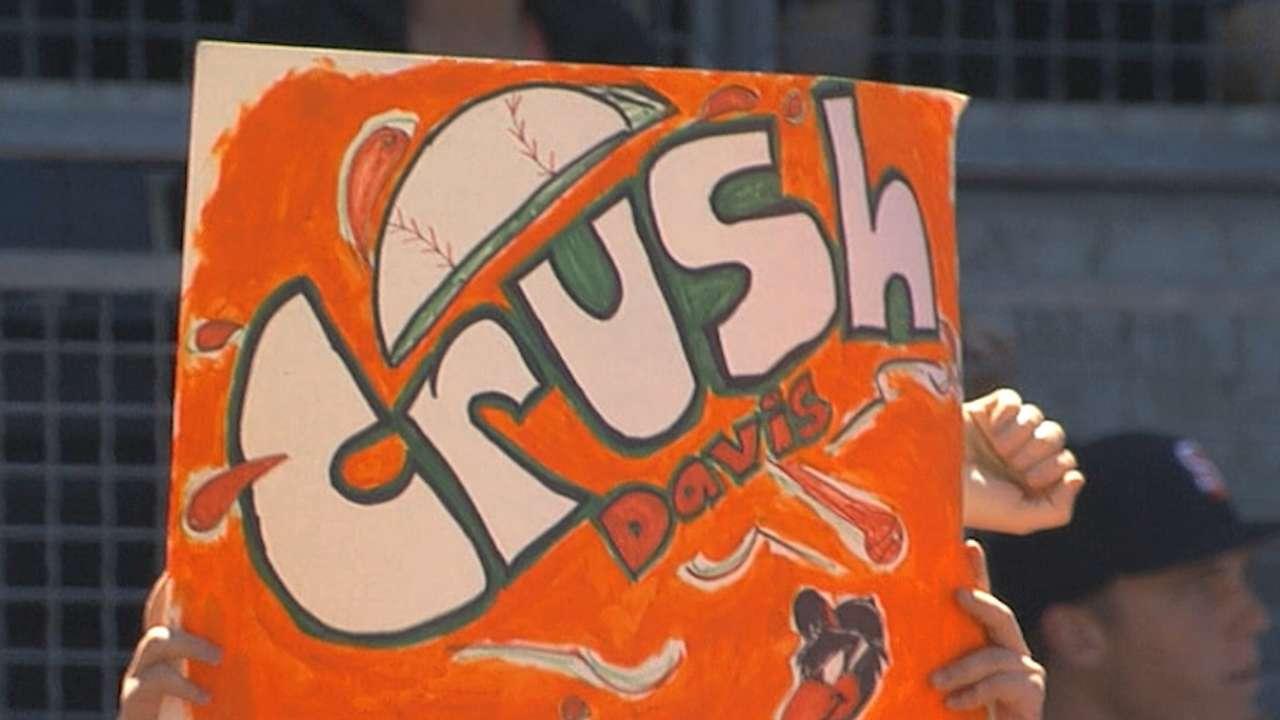Crush Davis looks good in orange