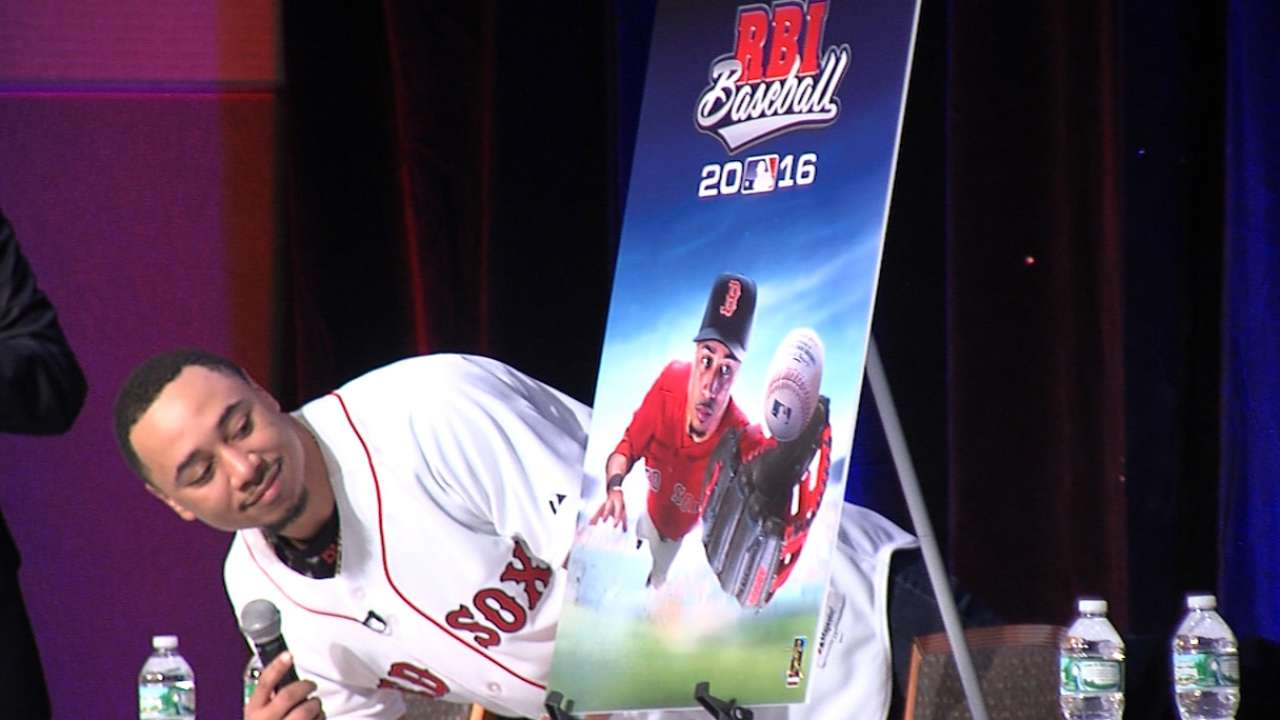 Betts cover player for R.B.I. Baseball 16
