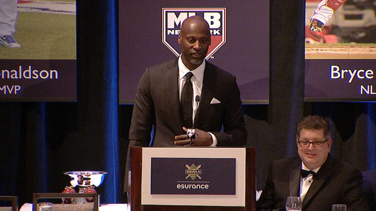 Hawkins honored by the BBWAA