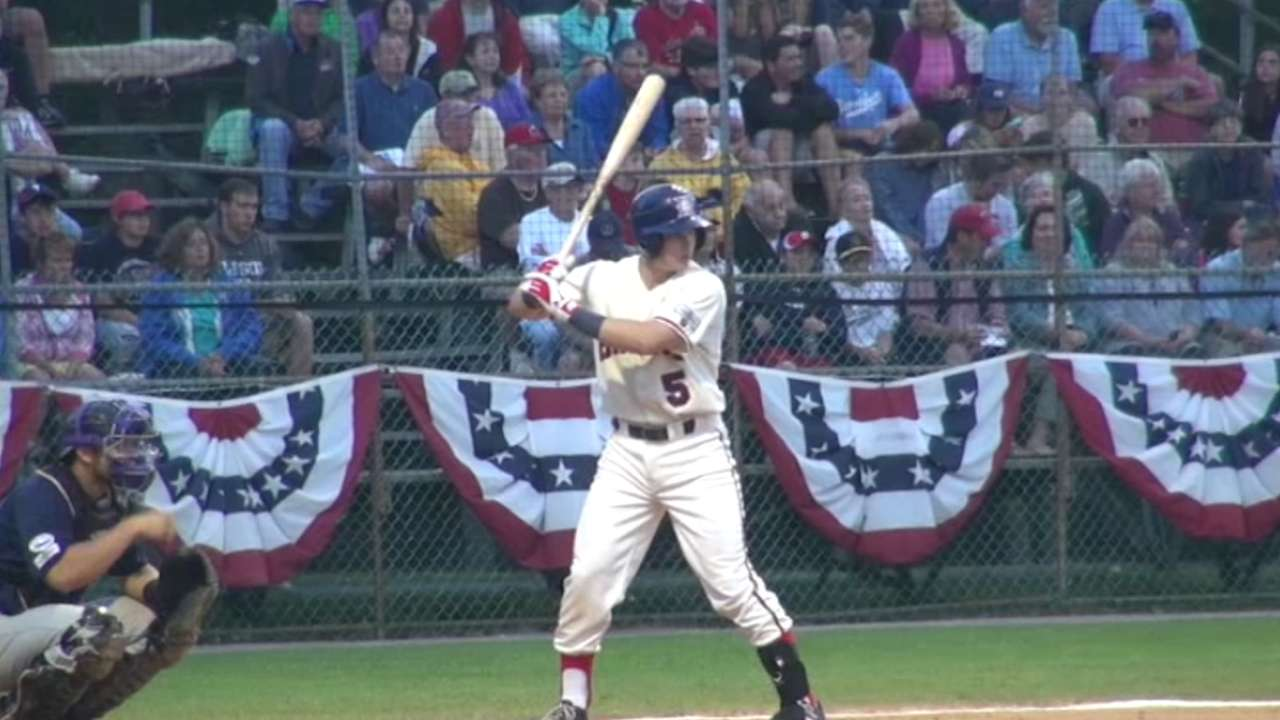 Happ rips first Fall League homer with Theo in attendance