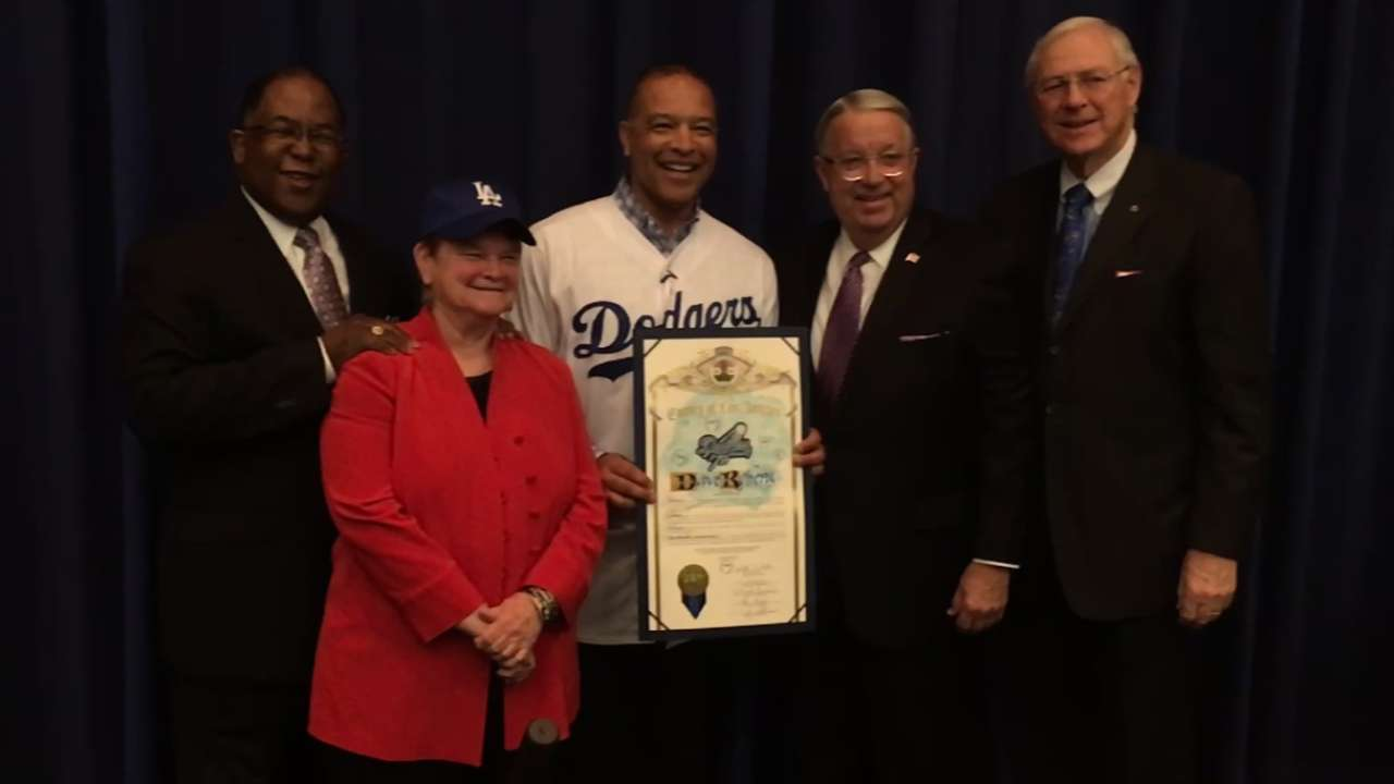 Dodgers visit, support Jackie's high school