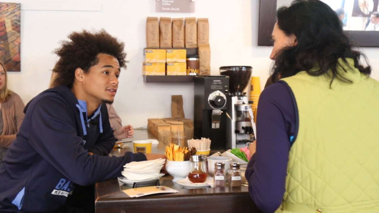 Surprise! For locals, cup of java Archer's treat