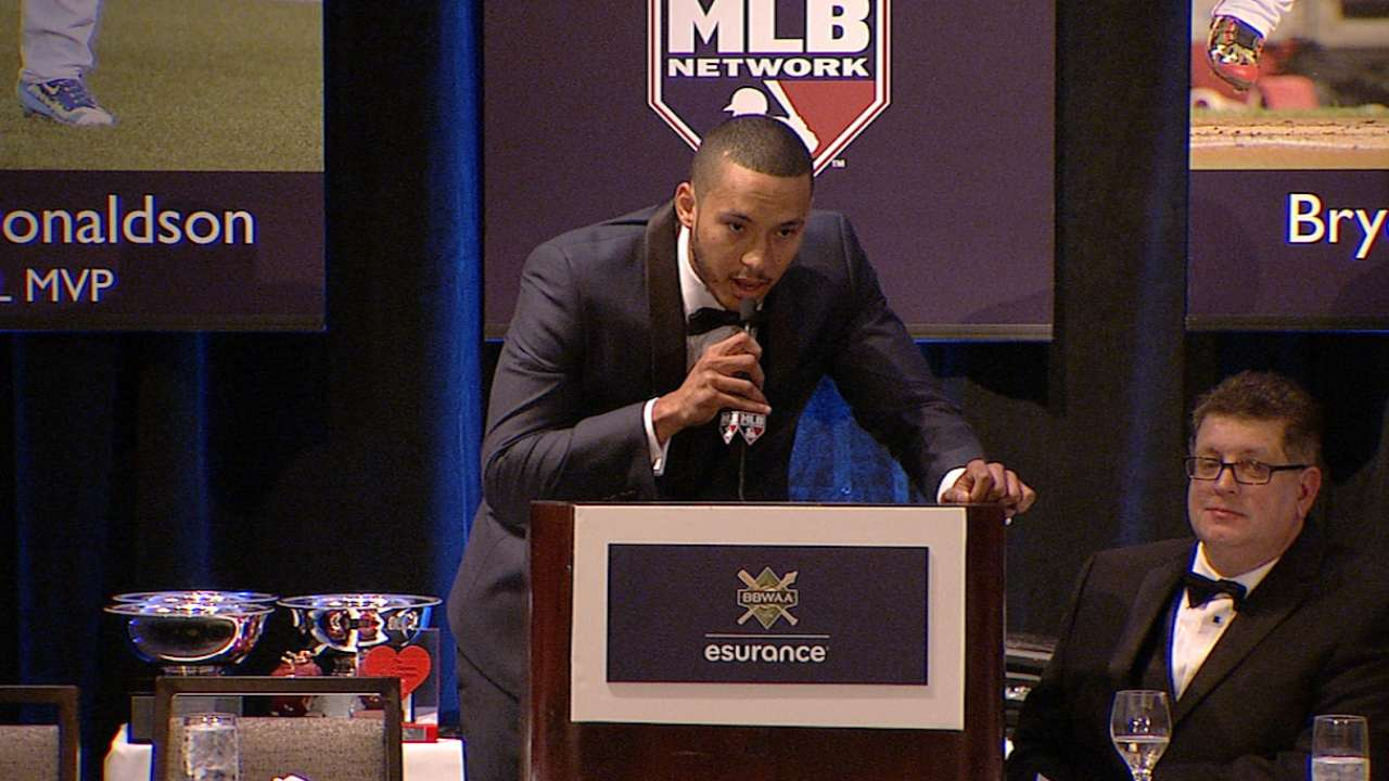 Correa accepts AL ROY Award