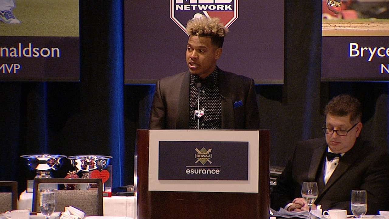 Stroman honored by the BBWAA