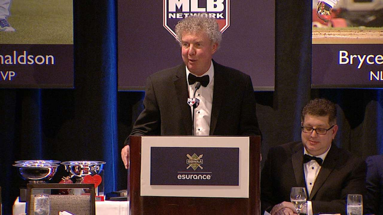 Shaughnessy honored by the BBWAA