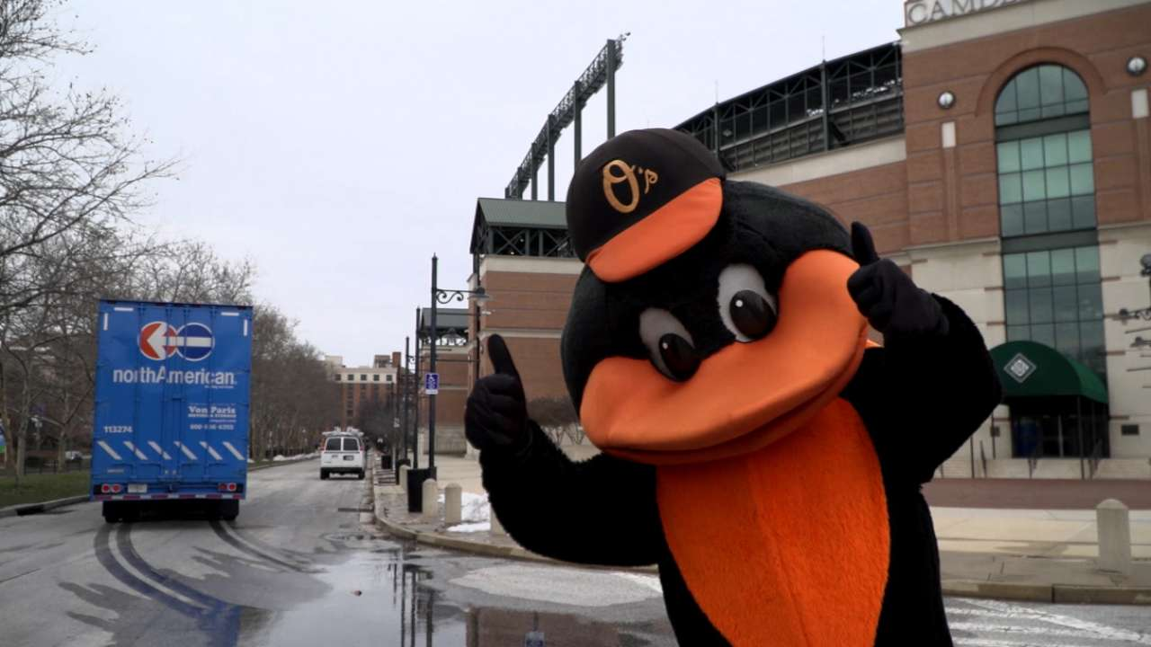 Orioles trucks head south for Spring Training