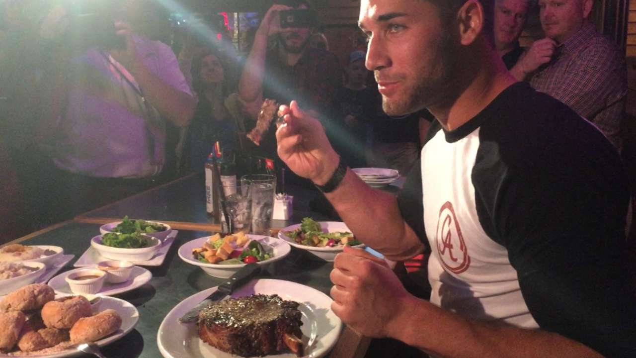 Kiermaier chows down for charity