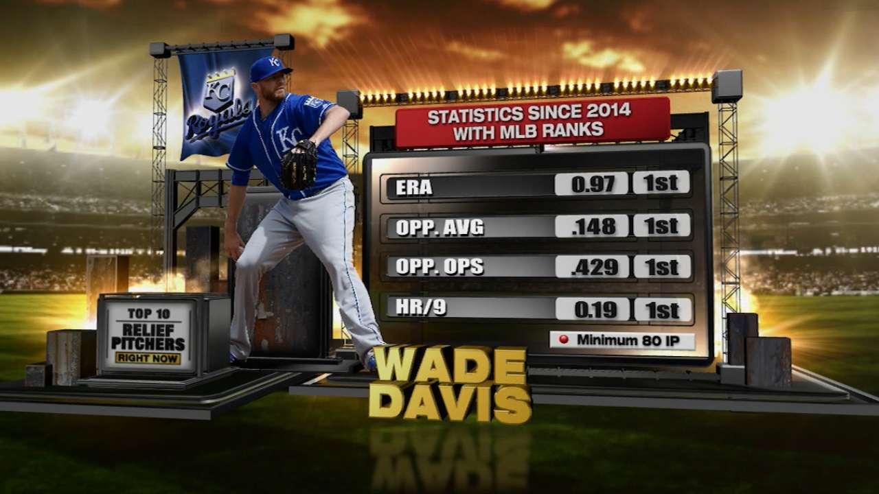 Royals' Davis tops list of best relievers