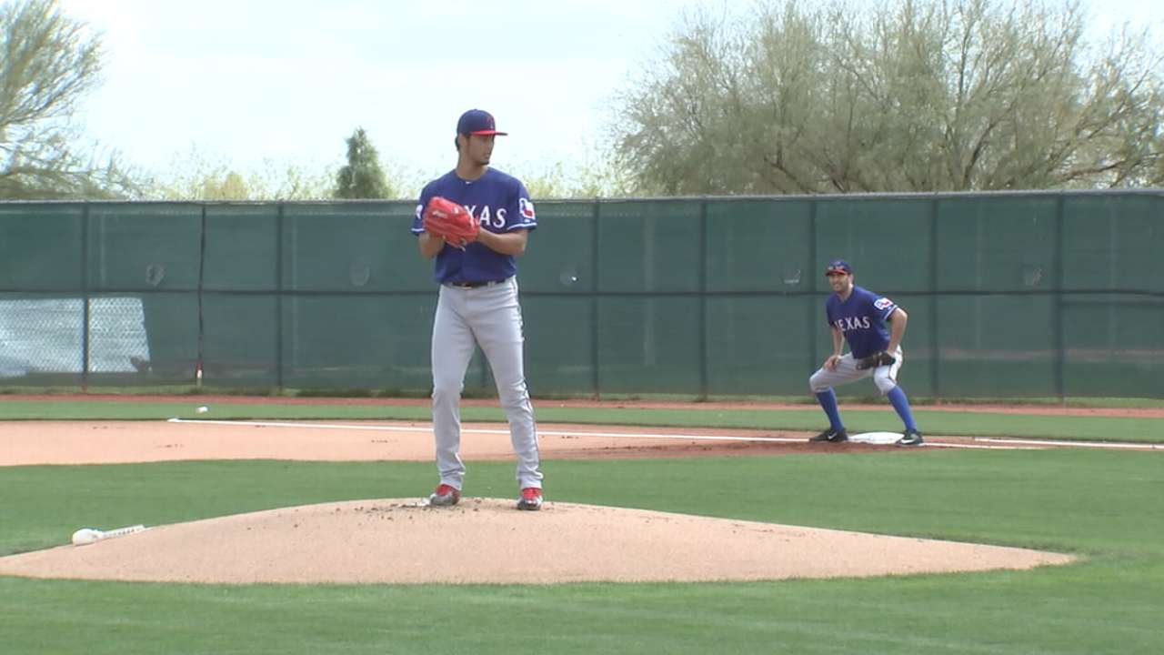 Darvish getting stronger physically, mentally