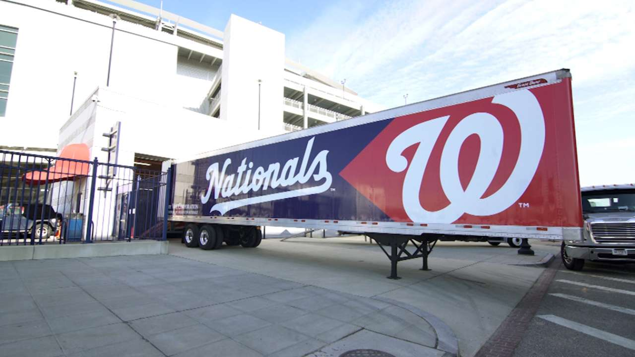 Nats' equipment loaded on Truck Day