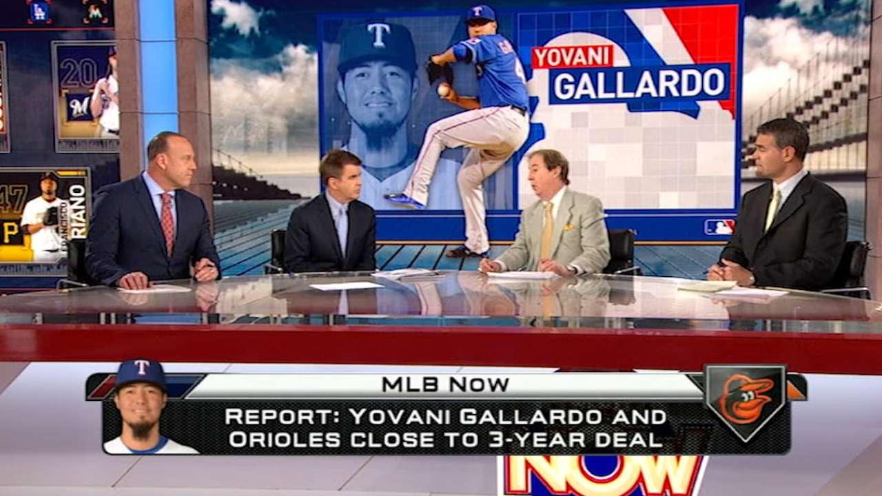 Source: O's making progress with Gallardo