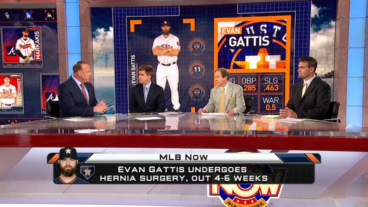 MLB Now on Gattis' surgery