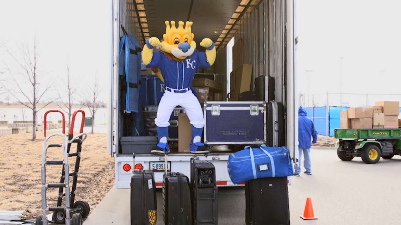 Champs load up truck for trip to spring home