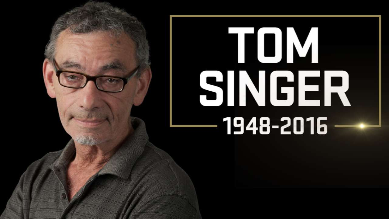Beloved MLB.com reporter Tom Singer passes away