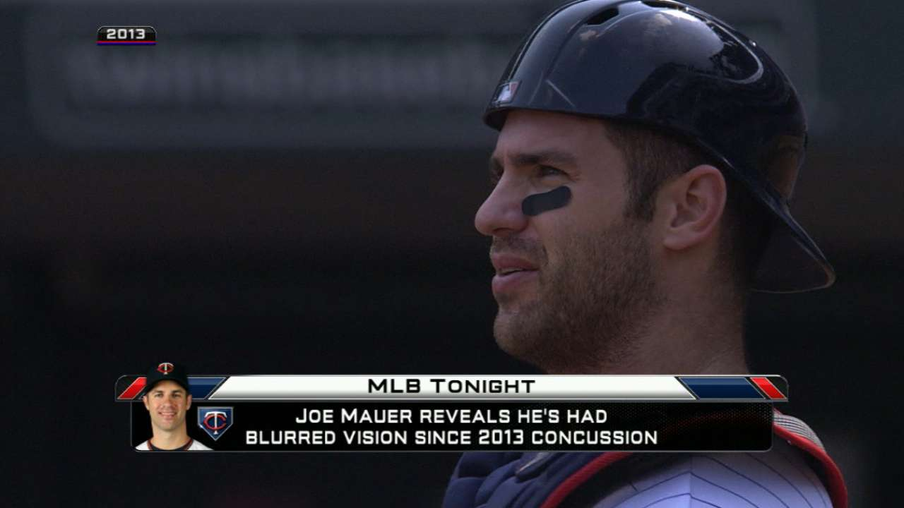 Mauer: 2013 concussion has affected vision