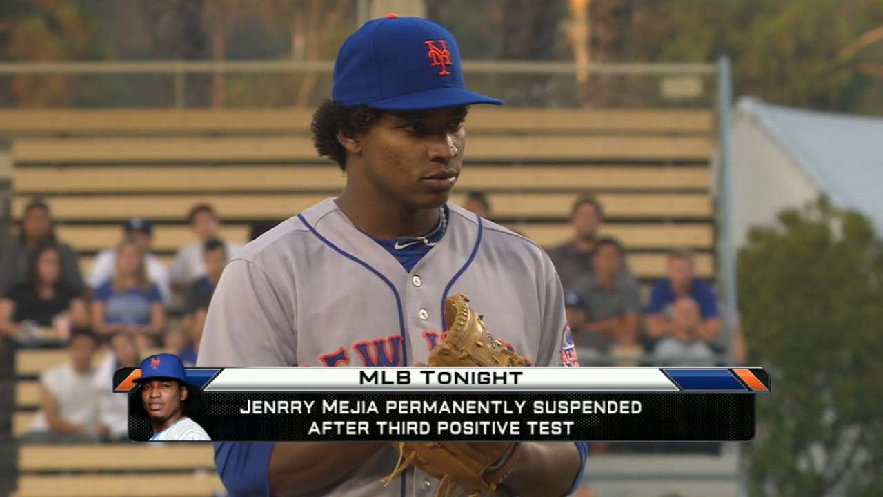 MLB Tonight: Mejia suspended