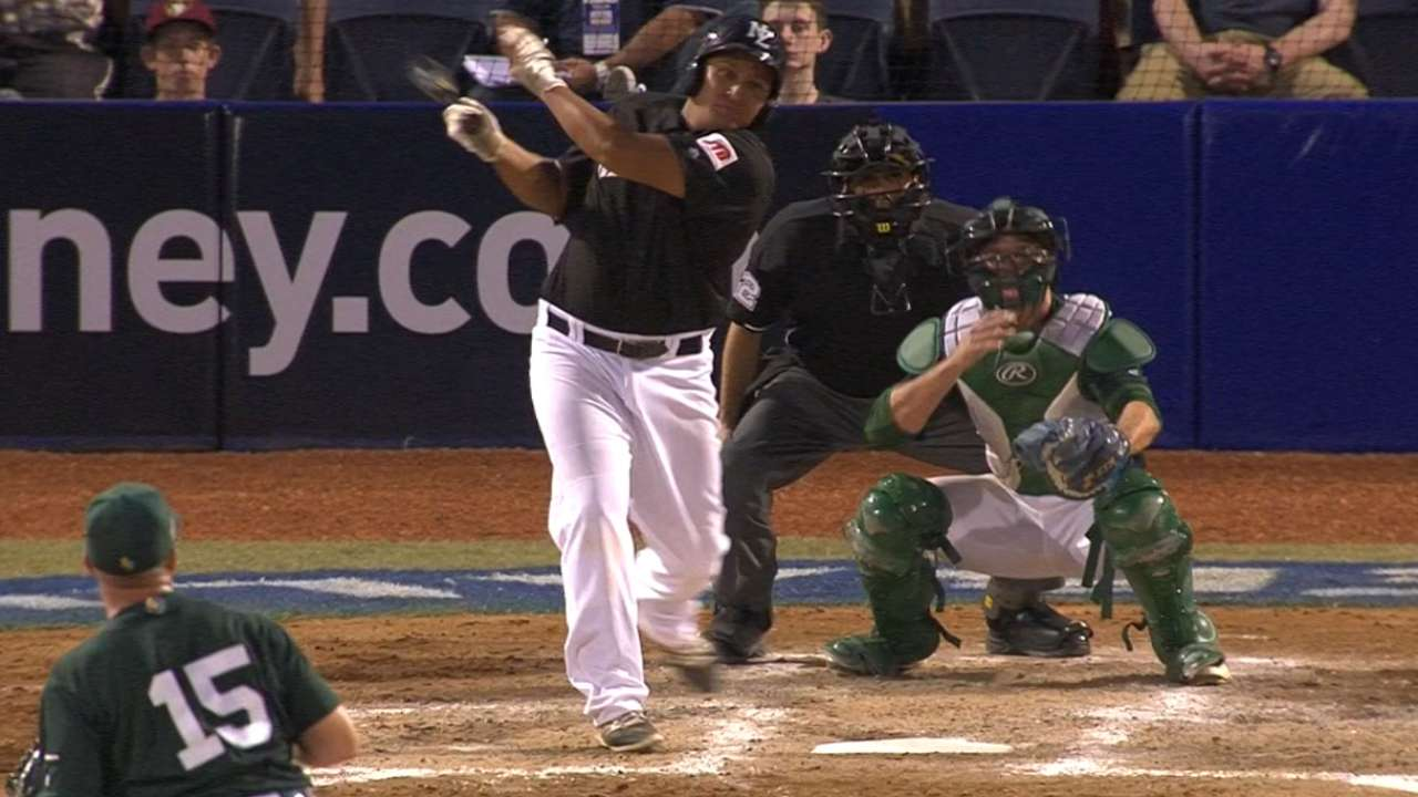 M. Moanaroa's two-run double