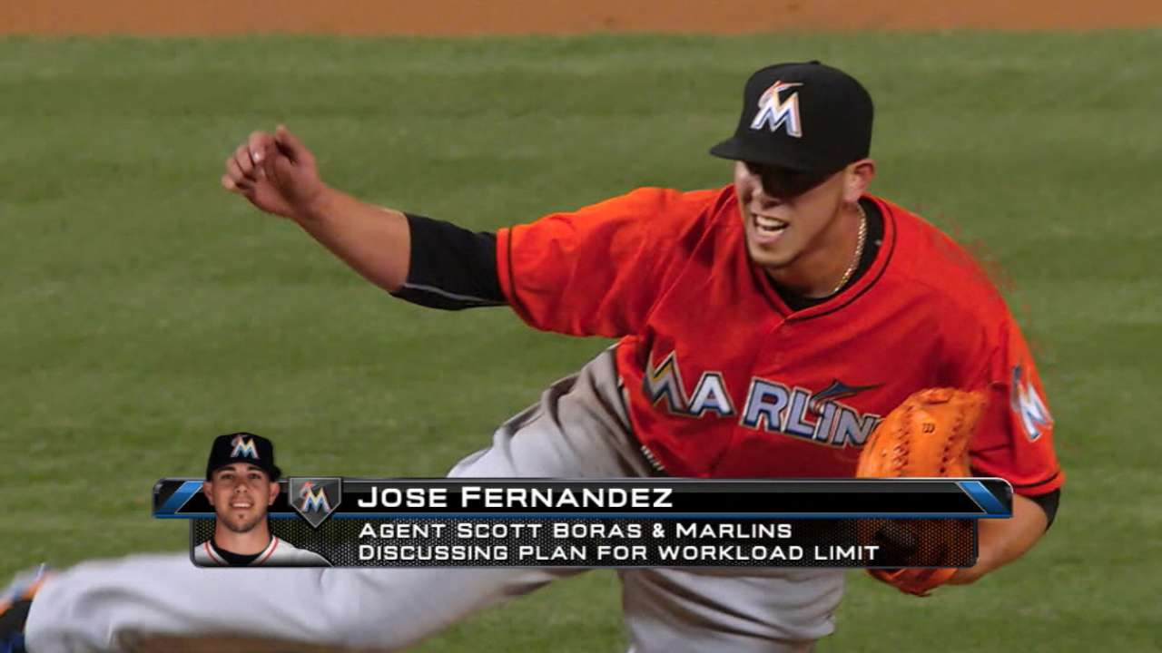 Marlins, Fernandez to discuss workload plan
