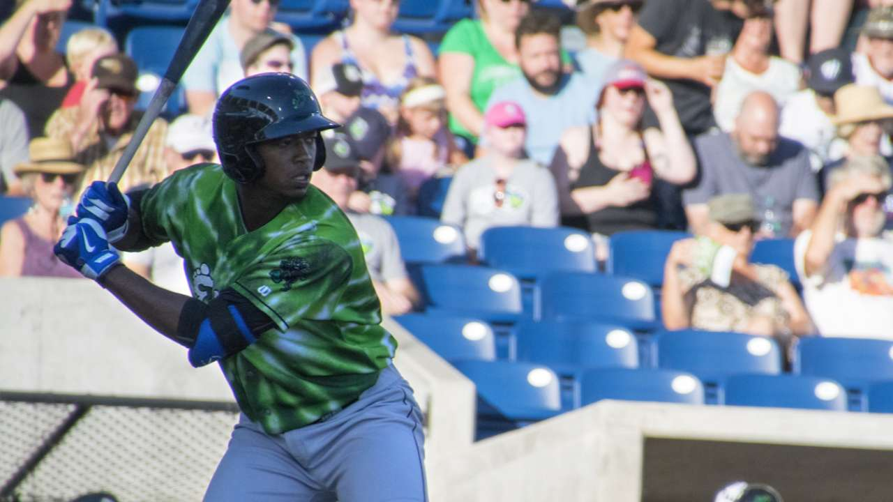 Jimenez continues to show power with first AFL home run