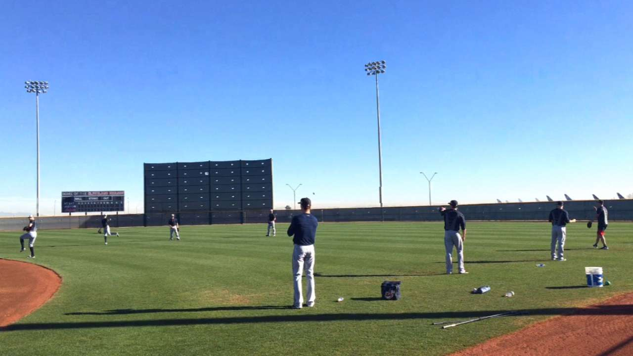 Back to work: Indians' pitchers, catchers report