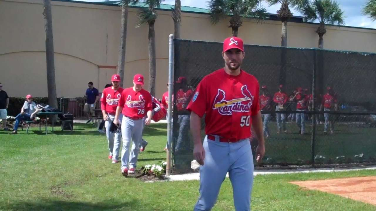 Wainwright on track to be Cards' Opening Day starter
