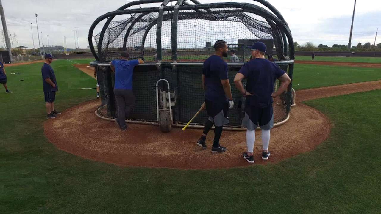 Padres pitchers and catchers