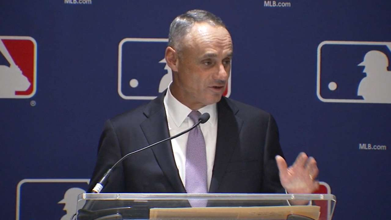 Manfred weighs in at Spring Training Q&A