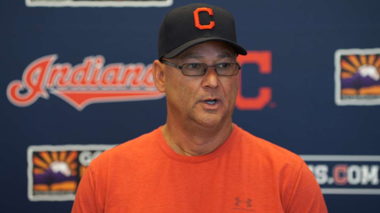 Indians building up McAllister as insurance