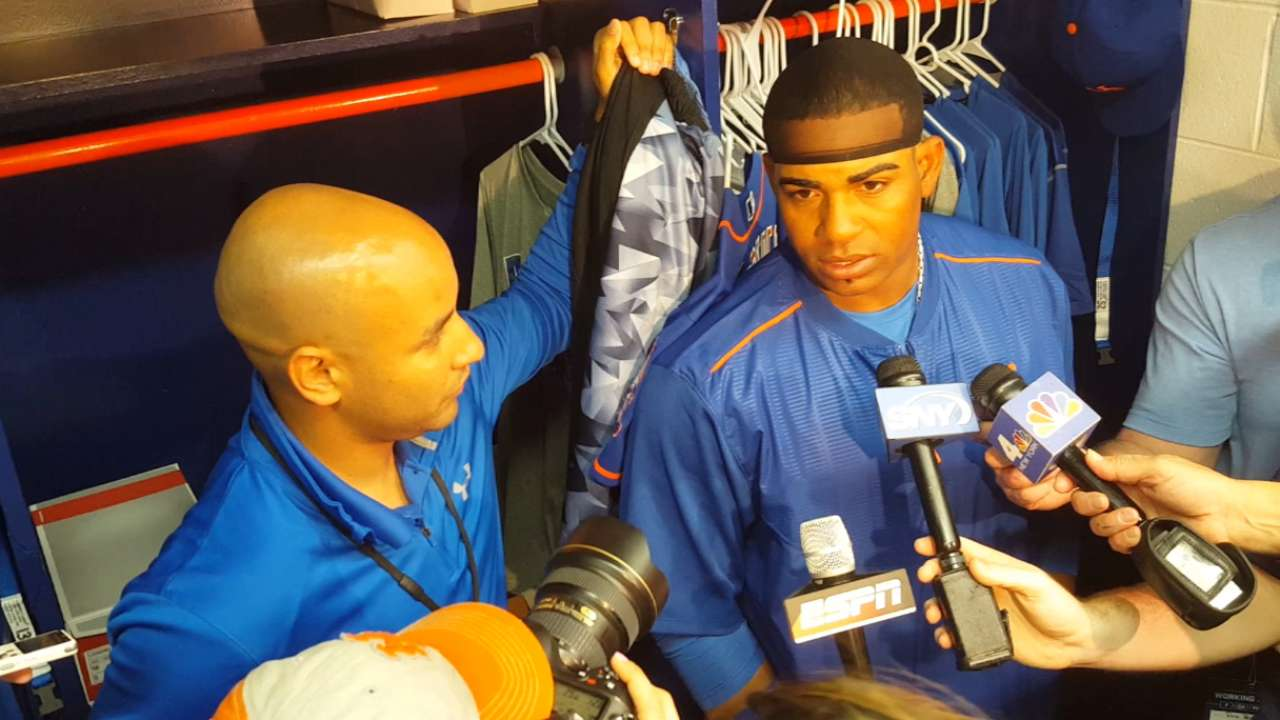 Cespedes arrives early, puts on a show