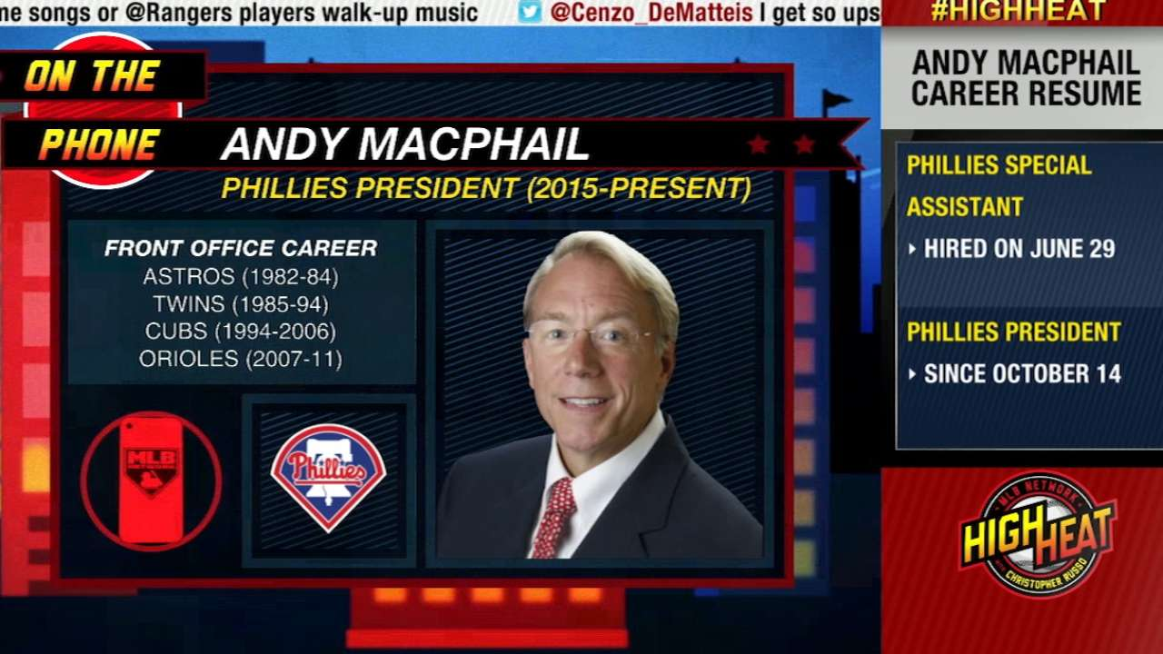 MacPhail upbeat about Phillies' future, front office