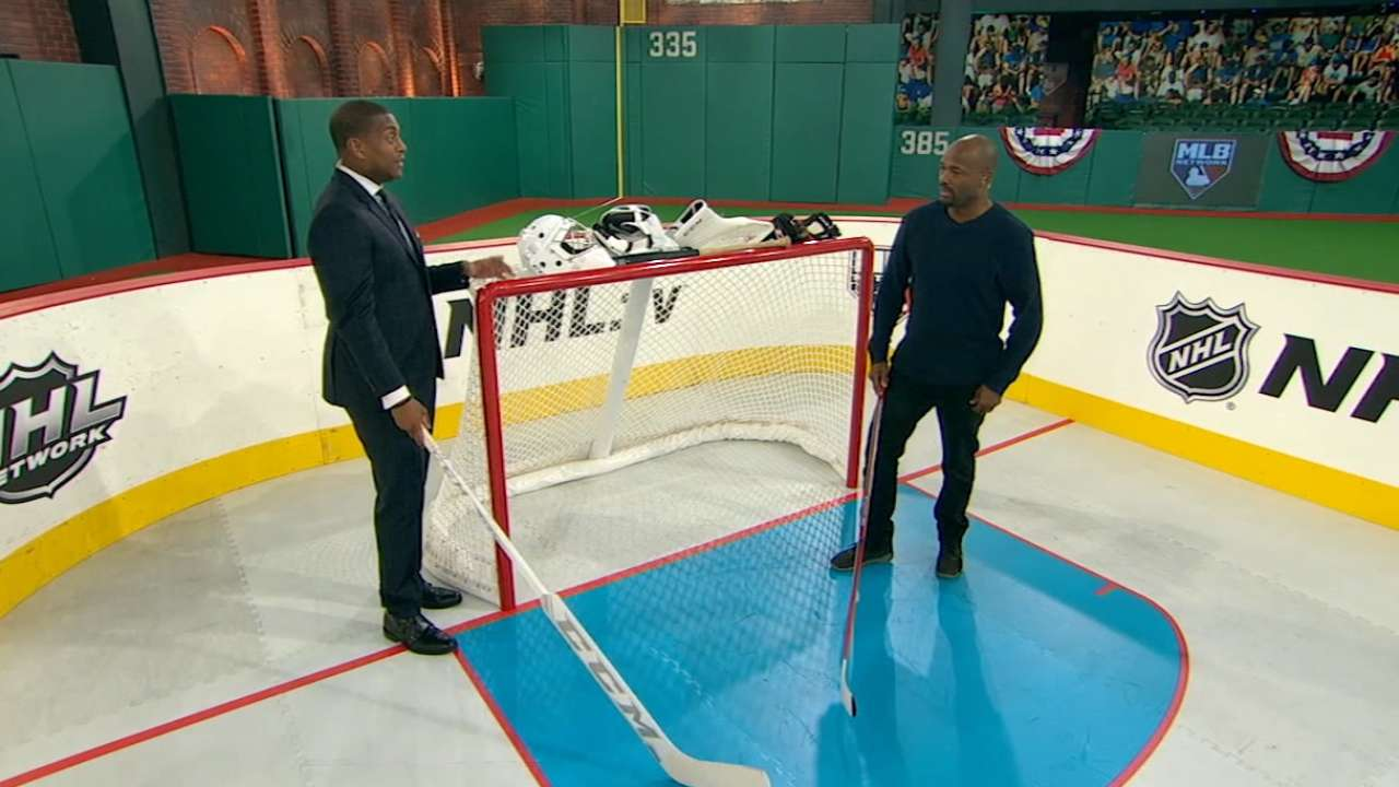 On the rink: MLB Network preps for NHL at Coors