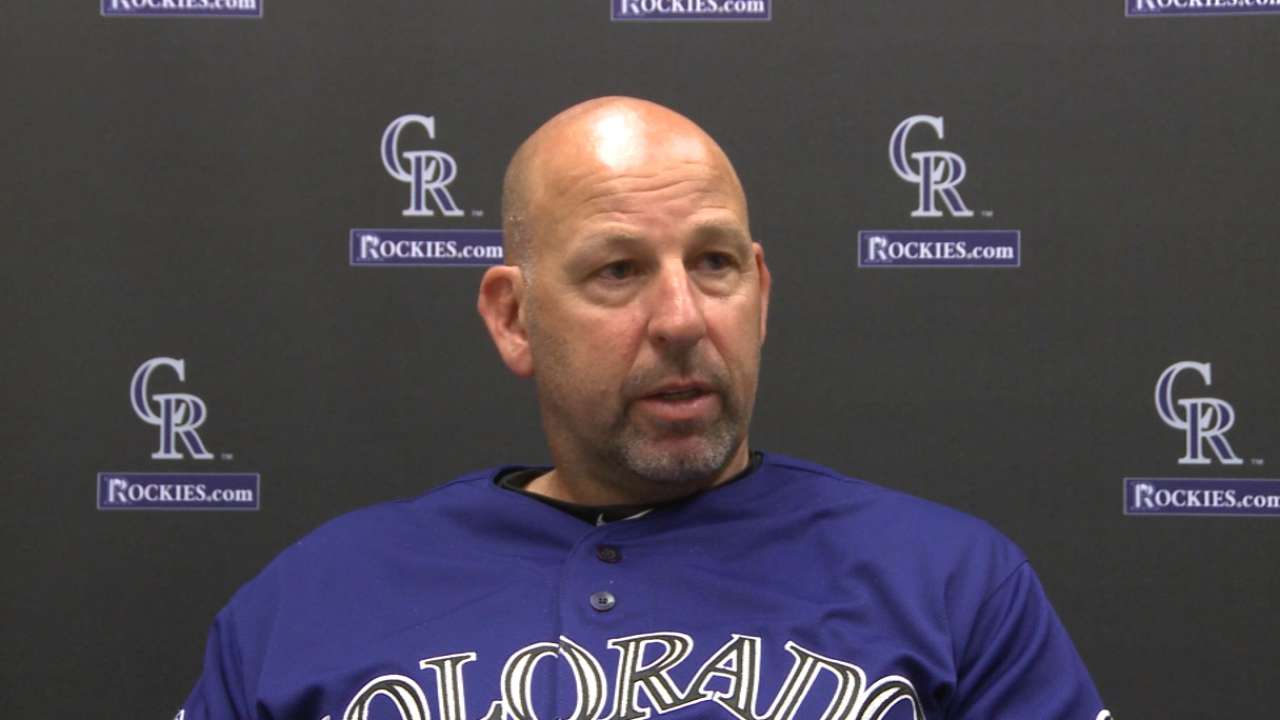 Weiss on Rockies' makeup for '16