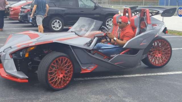 Yoenis Cespedes Is Driving Around Spring Training In A