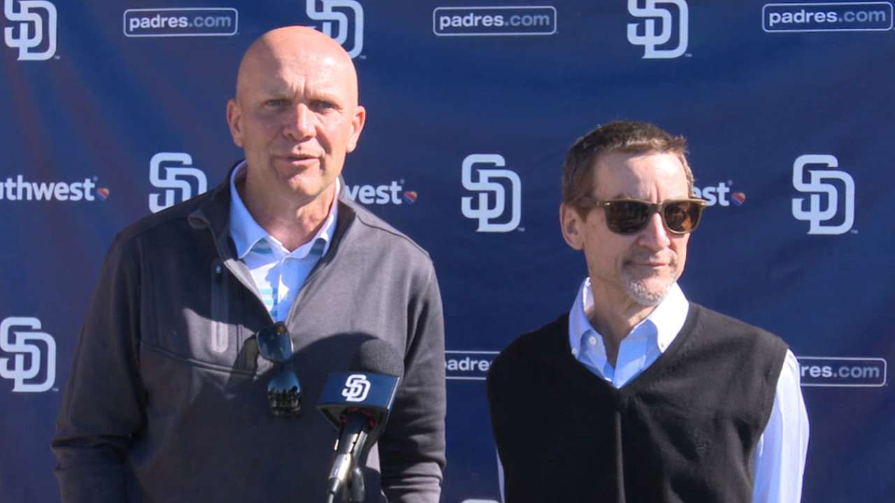 Padres brass upbeat about 'building' mode