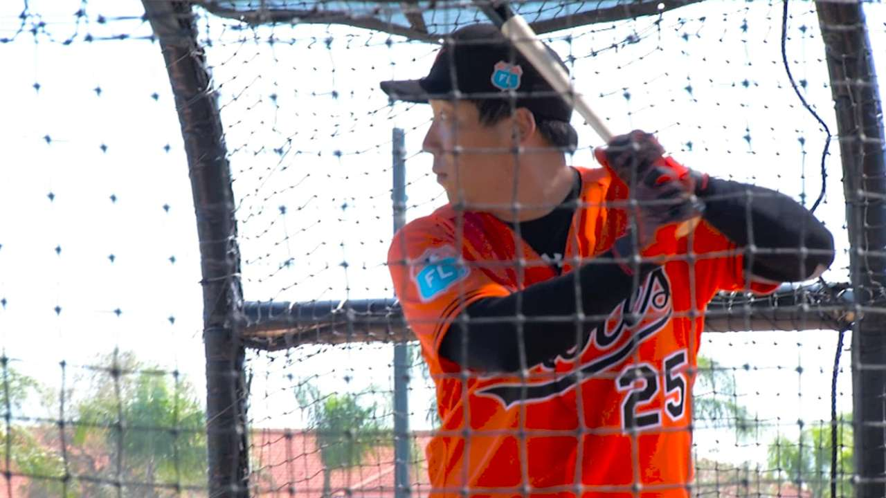 Kim on early days of O's camp