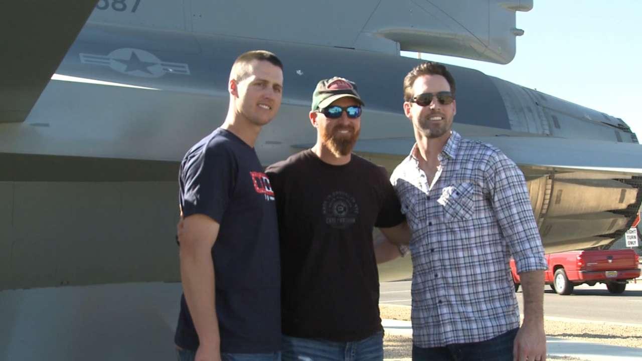LaRoche, Jones, Carroll visit Luke AFB